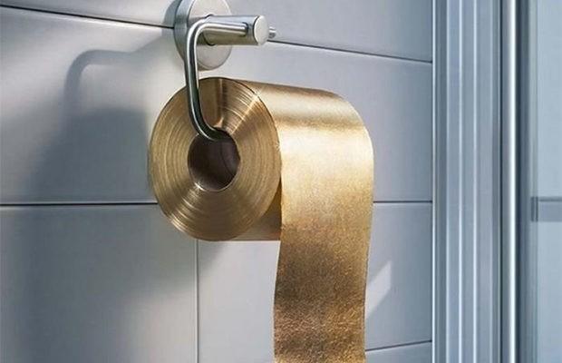 золотая туалетная бумага
