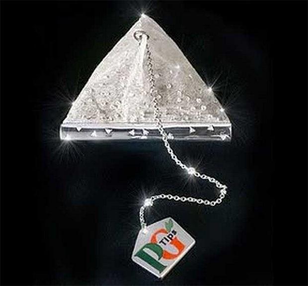 бриллиантовый пакетик чая